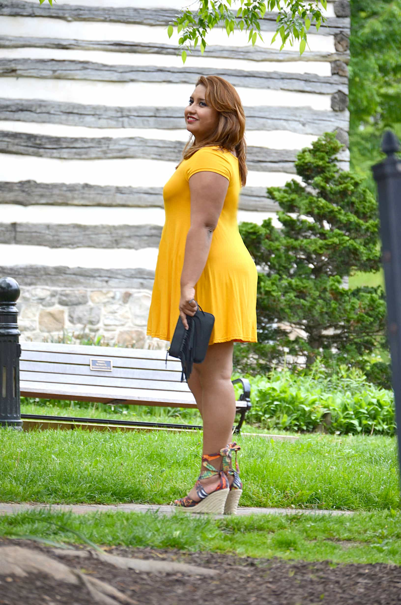 yellow-dress-lace-up-sandals