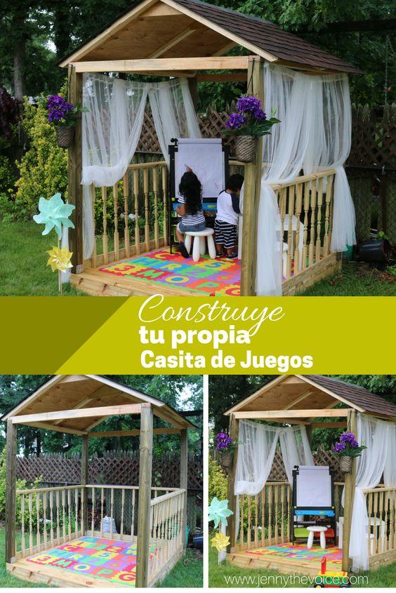 Pinterest photo - Cómo construir una casita de juegos para el jardín