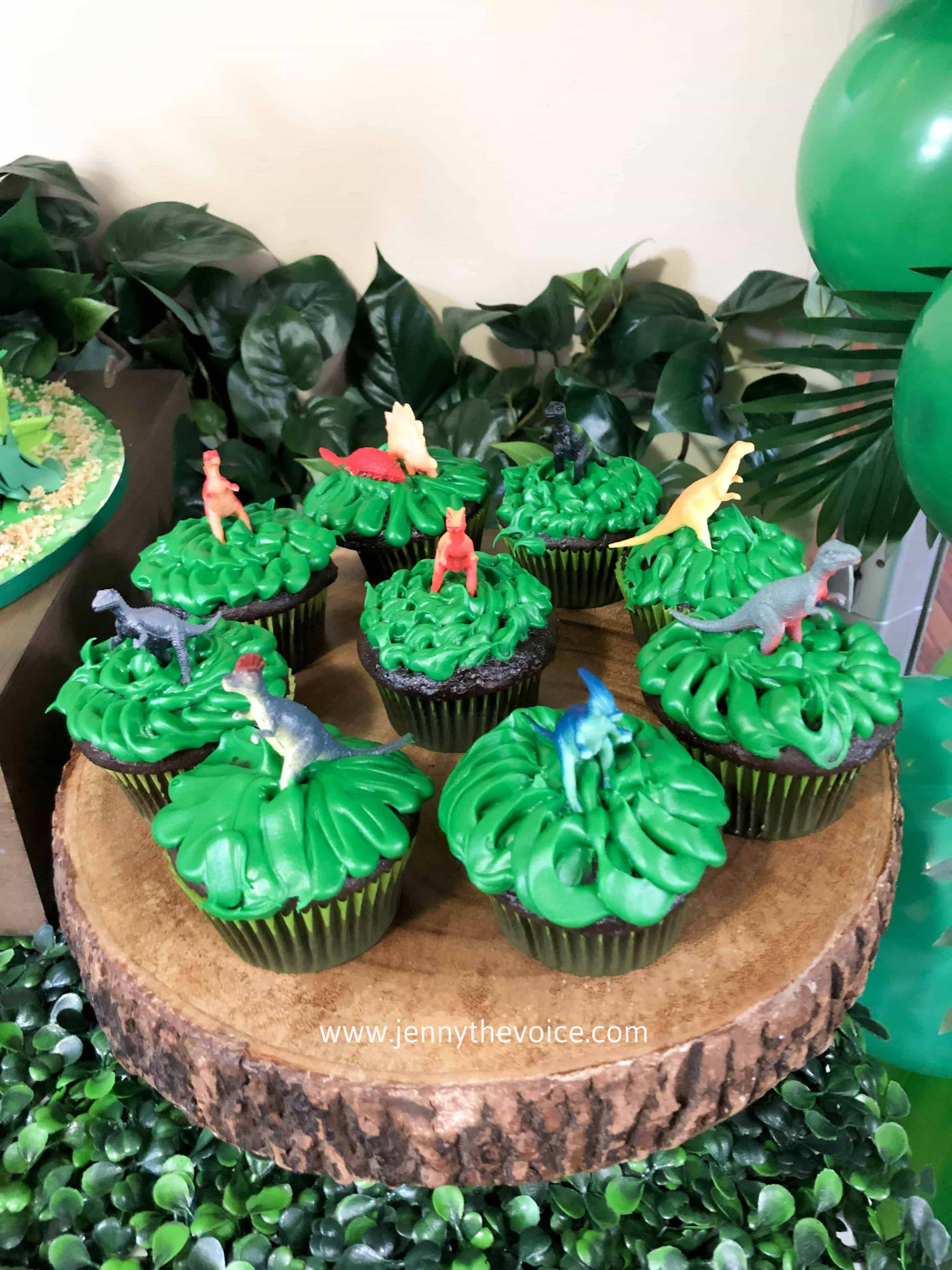 Cupcakes de Dinosairios