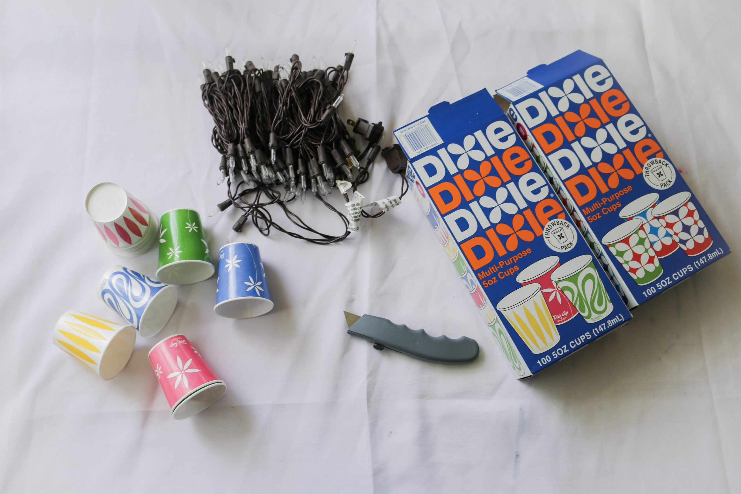 diy cups string lights scaled - DIY Dixie® Cups String Lights