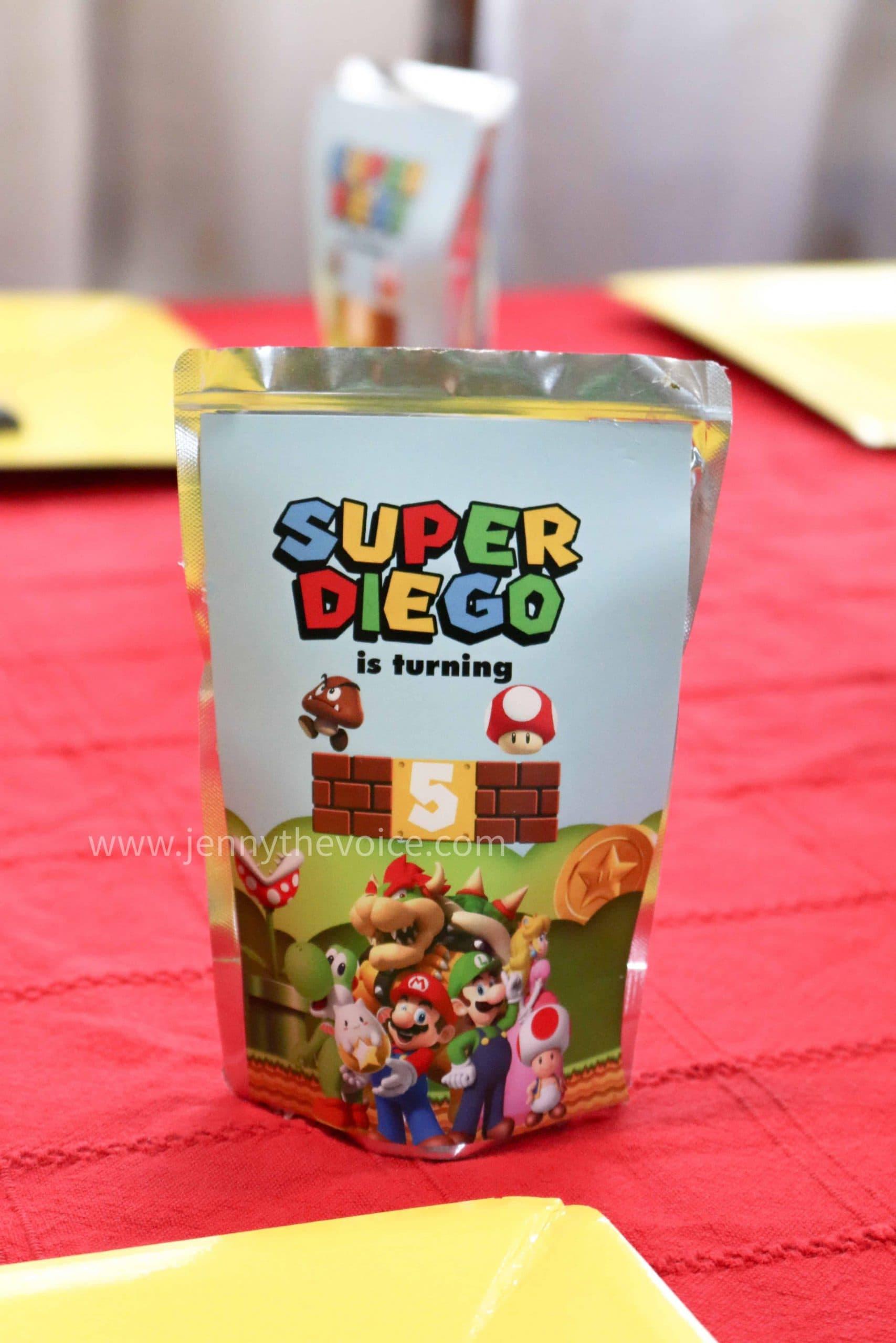 Cumpleaños-Super-Mario-decoración